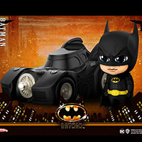 Batman and Batmobile Cosbaby - Batman 1989 - Hot Toys cosb710