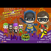 Batman Robin and Villains ( Catwoman Riddler Penguin Joker) Cosbaby - Batman Classic - Hot Toys cosb705